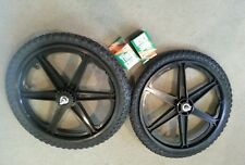 "NEW 20"" MAG WHEELS 6 SPOKE BLACK TIRES  TUBES FOR GT DYNO HARO OR BMX BICYCLES"