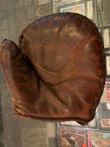 1930'S JOE STRIPP CINCINNATI REDS FIRST BASEMEN MITT GLOVE BUCKLE BACK NICE SOFT