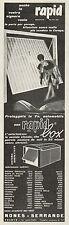 J0566 Autorimessa in acciaio zincato RAPID BOX - Pubblicità - 1967 Vintage Ad