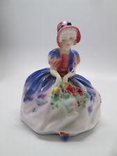 Royal Doulton England Monica Porcelain Lady Flower Girl Figurine HN1467 Old