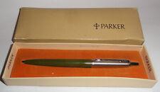Vintage Parker Jotter ink pen Olive & stainless MIB
