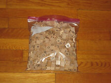 600 WOODEN SCRABBLE LETTER TILES GREAT FOR GAME OR CRAFTING
