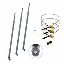 3 9dBi RP-SMA 2.4G~5.8G WiFi Antennas + 3 U.fl For Netgear WNDR3700 v.2 WNDR3800