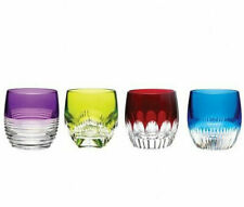 Waterford MIXOLOGY Assorted Color Tumbler Set 4 Glasses DOF # 160453 New