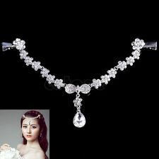 Crystal Frontlet Forehead Head Chain Wedding Bridal Jewelry Drape Headpiece