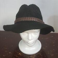 aeb74631f52 David   Young Panama Hat Black Wool Women s NEW