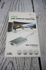 NIB J5Create VGA USB 2.0 Display Adapter Mac & Windows Compatible JUA210