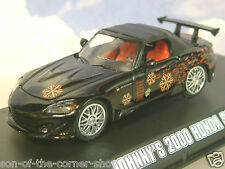 GREENLIGHT 1/43 DE JOHNNY 2000 HONDA S2000 EN NOIR: THE FAST & THE FURIOUS 86205