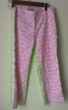 Dagmar & Dill Pants * Women's 2 * EMBROIDERED DAISIES * Pink, Green * NWT $150