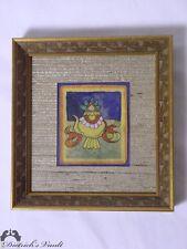 Antique Tibetan Thangka Buddhist Framed Watercolor