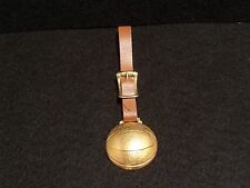 Vintage Basketball Brass Watch Fob with Strap   c.1930'- 40's Medal