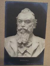 antique post card BRAHMS Bust Atelier Michaeli 1907