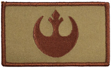 "Star Wars Rebel Tactical Hook and Loop Embroidered Desert Tan 2"" X 3.5"""