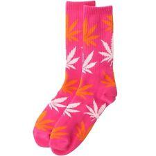 $12.00 HUFAC3259PKO-1S HUF Plantlife Weed Crew Socks (pink / orange)