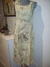 robe longue été de marque ISH WAR taille 38 esprit ZEN vert d'eau bambou 10% lin