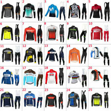 2020 New Mens Team Cycling Jerseys Cycling long Sleeve Jersey And Bib Pants Set