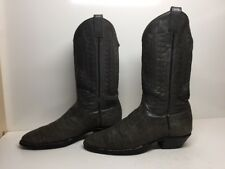 #K MENS UNBRANDED COWBOY EXOTIC LEATHER GREENISH BOOTS SIZE 10 B