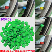 100pc Colorful ABS Wheel Tire Tyre Valve Stem Caps Dust Air Cover Screw Car Bike