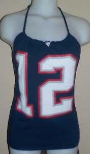 Ladies New England Patriots Tom Brady Reconstructed NFL Football Shirt Halter