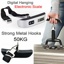 NEW 50KG DIGITAL PORTABLE TRAVEL HANDHELD LUGGAGE WEIGHING SCALES SUITCASE BAG