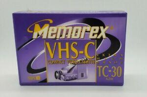 NEW SEALED Memorex TC-30 VHS-C TAPE Extra High Grade EHG 30min Compact Video