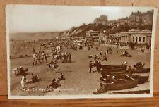 1935 Beach Area Real Photo Postcard - Bournemouth Dorset England UK