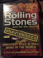 THE ROLLING STONES - JUST FOR THE RECORD - UNAUTHORISED 5 DVD SET - NEW & SEALED