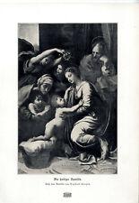 Die heilige Familie von Raphael Sanzio Historischer Kunstdruck von 1903