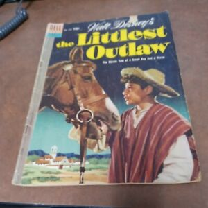 👢 Walt Disney's the Littlest Outlaw Dell #609 Movie Classic 1954 Golden-Age