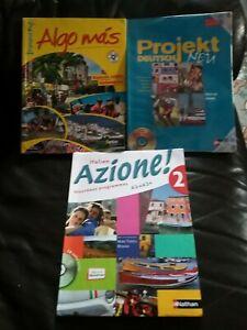 Lot De Livres Scolaire De Seconde Espagnol  Italien  Allemand