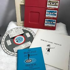 Vintage 1960s Berlitz Modern Cassette Course Basic French with Verb finder w Box