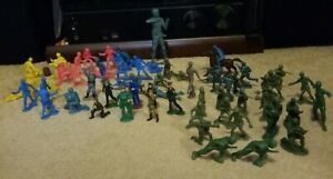 Marx toy soldier vintage ww2+Civil war and officer soldiers