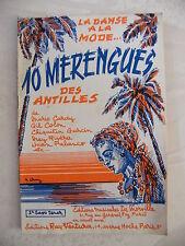 Partition 10 Menregues des Antilles 2ème saxo ténor