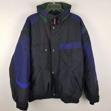 Nordica Classics Mens Ski Winter Coat Jacket Nylon Black Vintage 90's L