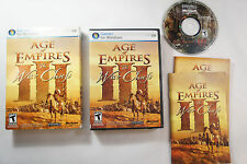 AGE OF EMPIRES III 3: THE WAR CHIEFS Expansion Pack PC Video Game, Completed