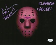 CANCER AWARENESS Ari Lehman Autograph Signed 8x10 Photo -Jason Voorhees(JSA COA)