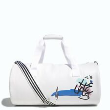 NEW ADIDAS ORIGINALS HELAS TREFOIL DUFFEL SHOULDER BAG # WHITE