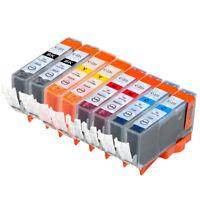 8 NON-OEM INK CARTRIDGE CANON CLI-221 PIXMA MP990 MX870 MP640R MP620B BK C M Y