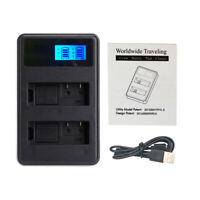 NP-FW50 Battery LCD Dual Charger For Sony Alpha A6000 A6500 A7R A7 NEX-3/5/6