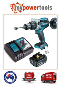Makita DHP481Z 18V LXT B/LESS HD DRILL + BL1850B 5.0AH BATTERY + DC18RC CHARGER