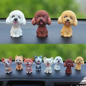 Nodding Puppy Toys Shaking Head Dog Ornament Car Dashboard Decors Car Home Room