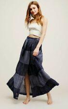 Free People Draped Sz S Boho Hippie Eyelet Ruffle Maxi Skirt Ivory Women's Clothing Clothing, Shoes & Accessories