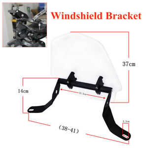 Motorcycle Front Windshield Bracket Sand Prevention Deflector Extension Spoiler