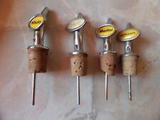 4 x Vintage Bottle Stoppers Pourer Measures
