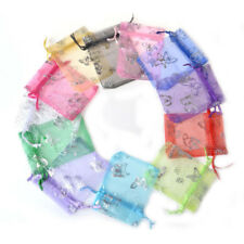 20PCS small Bag Natural Organza Pouch Drawstring bag Jewelry candy kids Gift