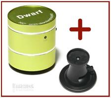 OEM Dwarf Mini Vibration Speaker Portable Travel USB MP3 MP4 Green + Glass Clamp