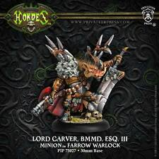 Warmachine Hordes BNIB - Minion Farrow Warlock Lord Carver 75027