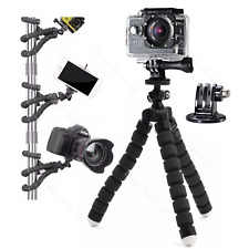Action Cam Camera Flexible Tripod Gorilla Octopus Mount Stand Holder + Adapter