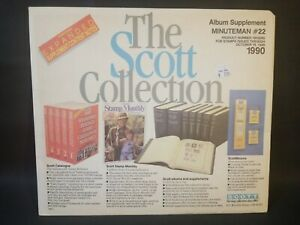 """""""THE SCOTT COLLECTION"""" MINUTEMAN #22 1990 ALBUM SUPPLEMENT W/FREE SHP!!"""