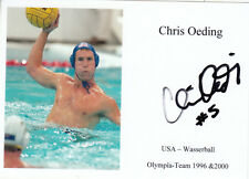 Olympia 1996 & 2000 - CHRIS OEDING (USA) **sign **
